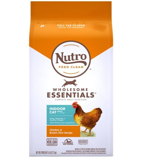 Nutro Wholesome Essentials Indoor Chicken & Brown Rice Recipe Dry Cat Food
