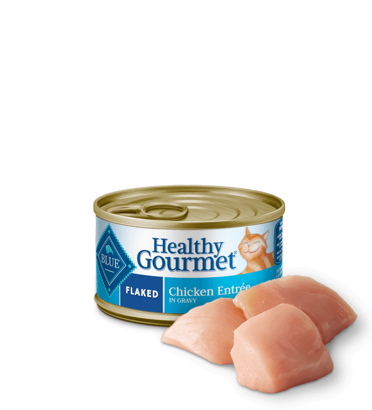 Blue Buffalo Healthy Gourmet Flaked Chicken Entrée In Gravy Wet Cat Food