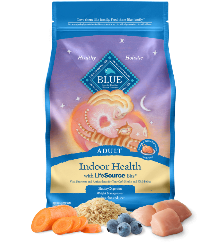 Blue Buffalo Indoor Health Adult Chicken & Brown Rice Recipe Dry Cat Food