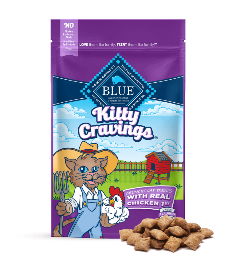 Blue Buffalo Kitty Cravings Crunchy Cat Treats With Real Chicken