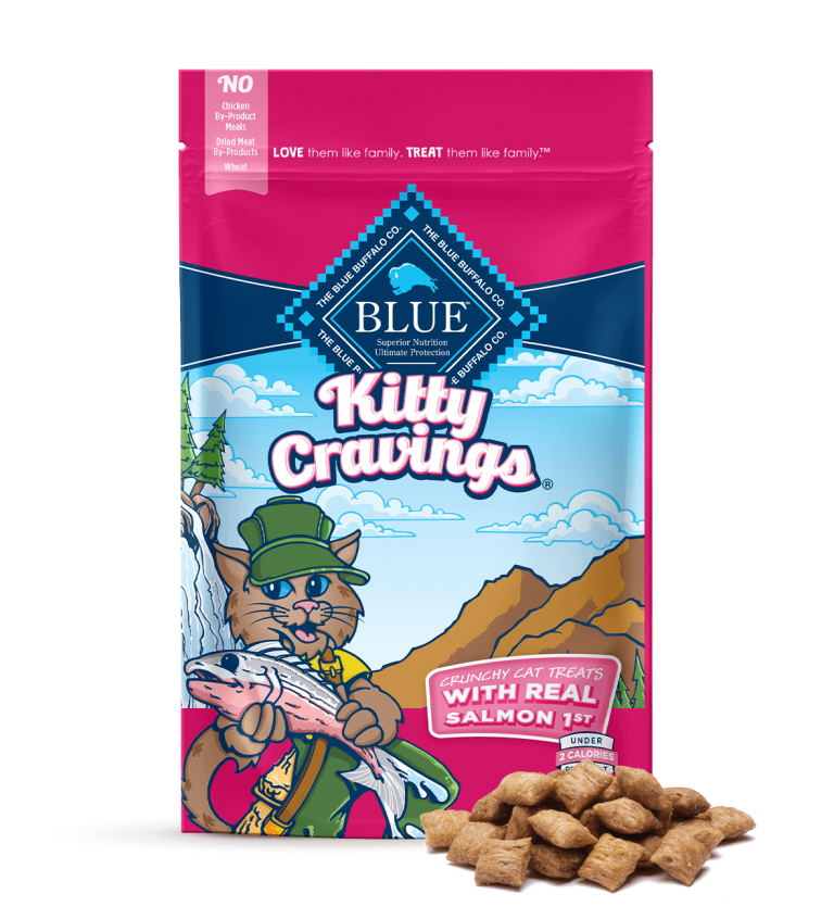 Blue Buffalo Kitty Cravings Crunchy Cat Treats With Real Salmon