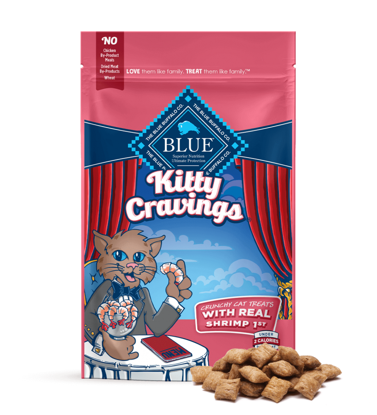 Blue Buffalo Kitty Cravings Crunchy Cat Treats With Real Shrimp