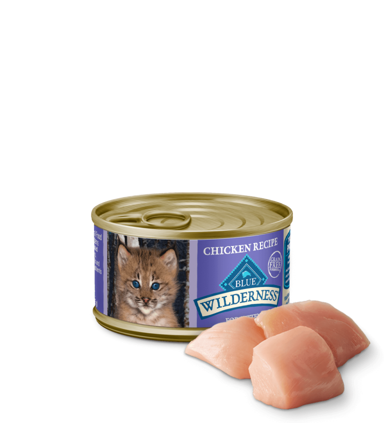 Blue Buffalo Wilderness Chicken Recipe Wet Kitten Food
