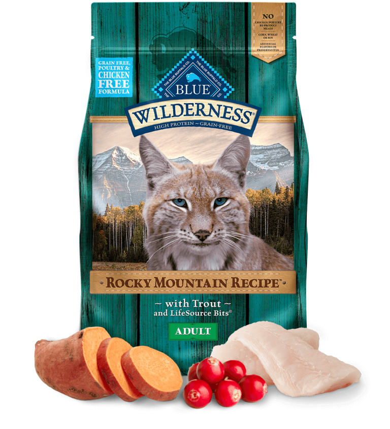 Blue Buffalo Wilderness Adult Rocky Mountain Recipe With Trout Dry Cat Food