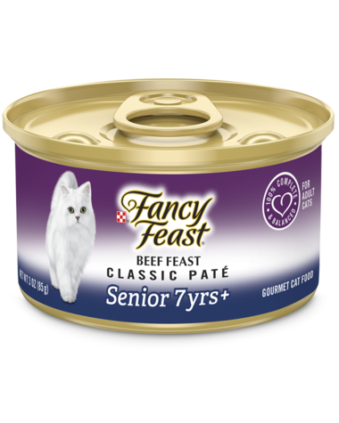 Fancy Feast Classic Paté Beef Feast Senior 7+ Wet Cat Food