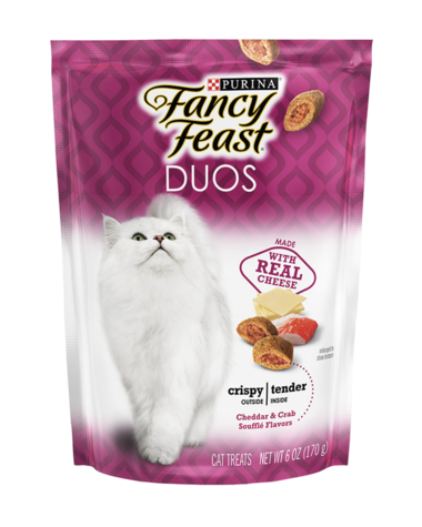 Fancy Feast Duos Cheddar & Crab Soufflé Flavors Cat Treats