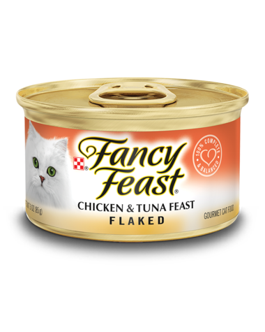 Fancy Feast Flaked Chicken & Tuna Feast Wet Cat Food