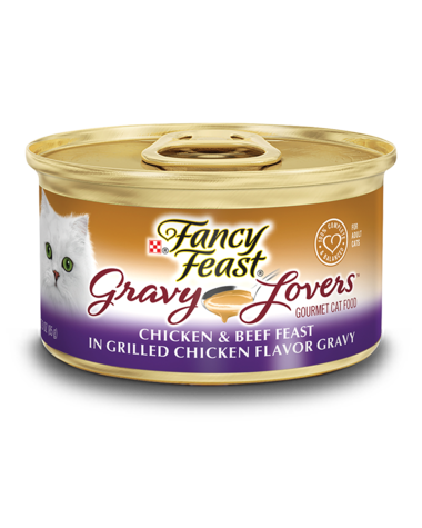 Fancy Feast Gravy Lovers Chicken & Beef Feast In Grilled Chicken Flavor Gravy Wet Cat Food
