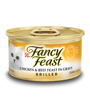 Fancy Feast Grilled Chicken & Beef Feast In Gravy Wet Cat Food