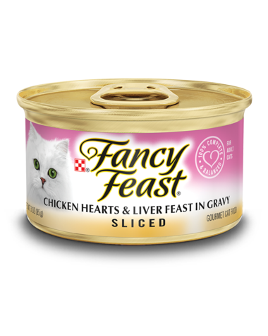 Fancy Feast Sliced Chicken Hearts & Liver Feast In Gravy Wet Cat Food