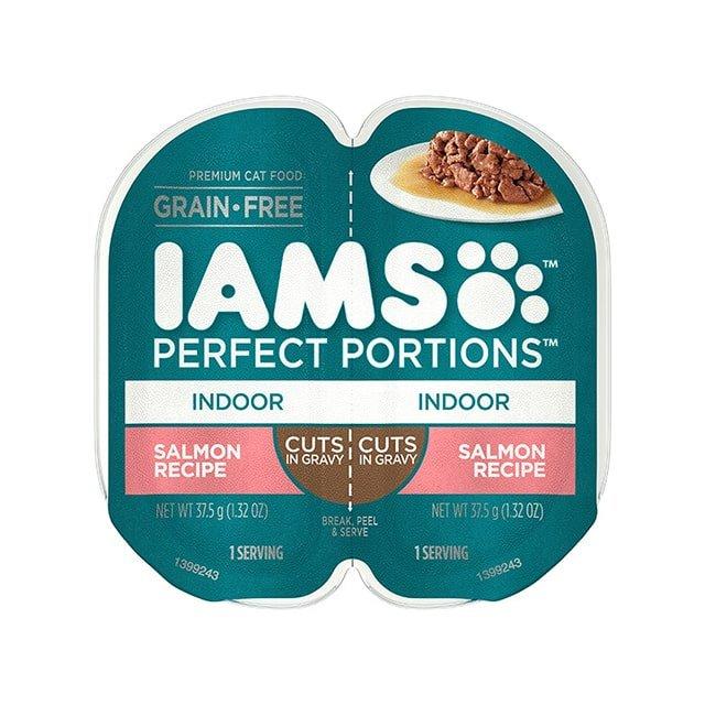 IAMS Perfect Portions Indoor Salmon Recipe Cuts In Gravy Wet Cat Food