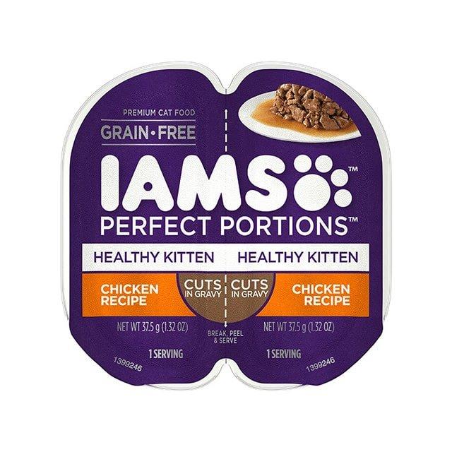 IAMS Perfect Portions Healthy Kitten Chicken Recipe Cuts In Gravy Wet Cat Food