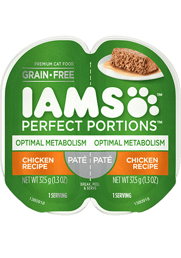 IAMS Perfect Portions Optimal Metabolism Chicken Recipe Paté Wet Cat Food