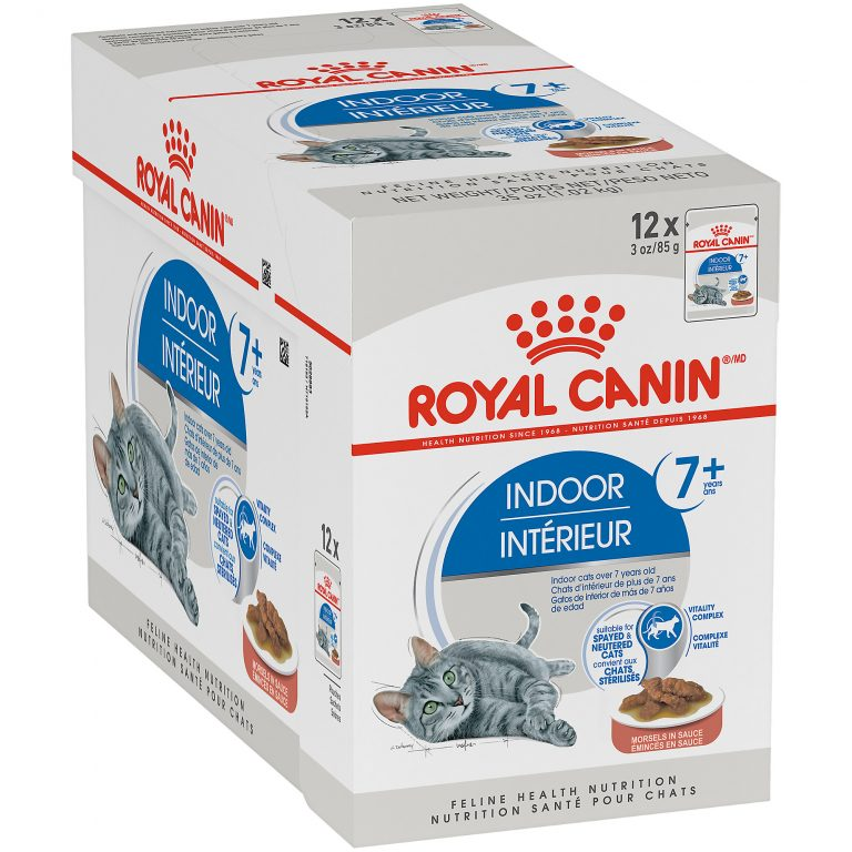 Royal Canin Indoor 7+ Morsels In Sauce Wet Cat Food