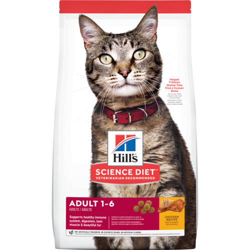 Hill's Pet Science Diet Adult 1-6 Chicken Recipe Dry Cat Food