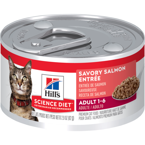 Hill's Pet Science Diet Adult 1-6 Savory Salmon Entrée Wet Cat Food