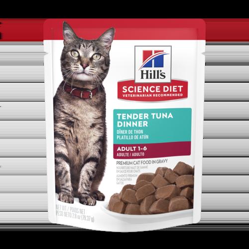 Hill's Pet Science Diet Adult 1-6 Tender Tuna Dinner Wet Cat Food