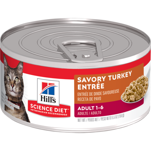Hill's Pet Science Diet Adult 1-6 Savory Turkey Entrée Wet Cat Food