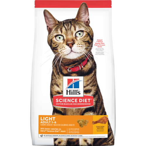 Hill's Pet Science Diet Adult 1-6 Chicken Recipe Light Dry Cat Food